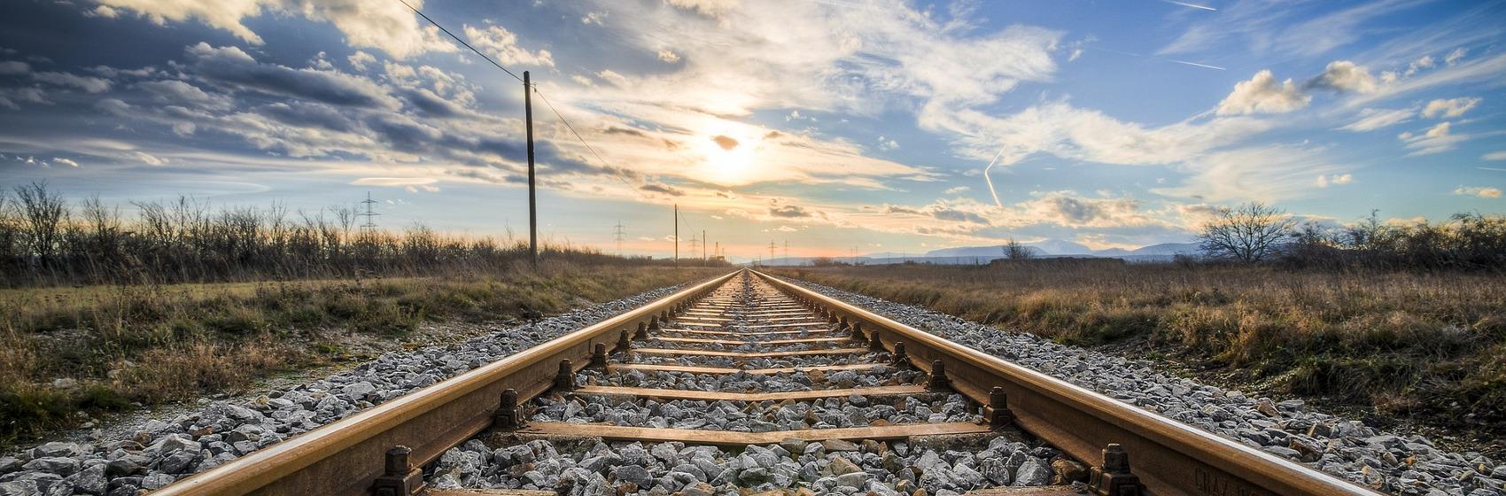 Photo d'un chemin de fer